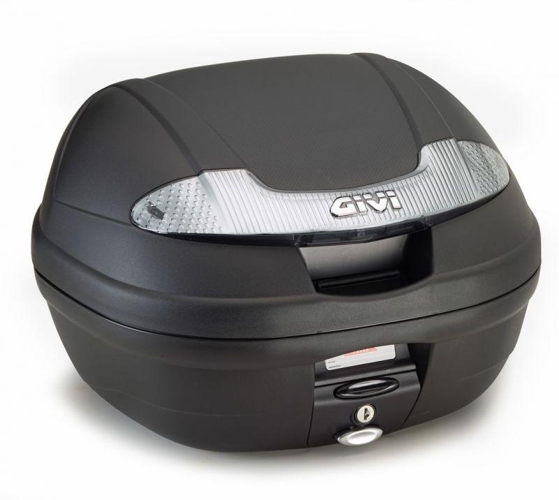 Noir Matt Givi E300N Monolock Topcase avec une Plaque